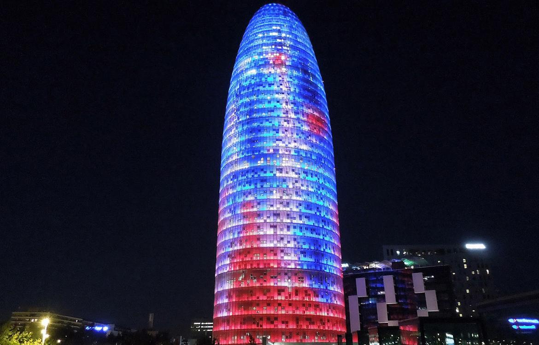 Materiales compuestos GRP estructurales en Torre Agbar, Barcelona